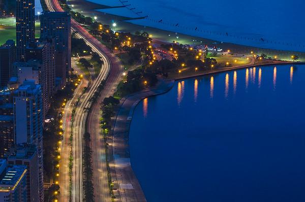 Chicago's North Lake Shore Drive (close-up view)