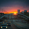 Houston's grand sunset as seen from Southwest freeway