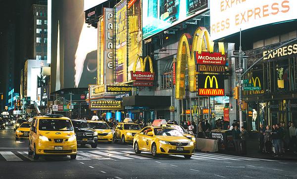 A night walk around Times Square, NYC