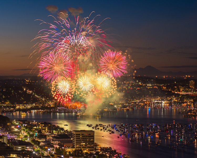 Lake Union Fireworks