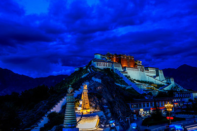 The Potala after dark