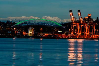 Seattle Docks and Seahawks Staduim