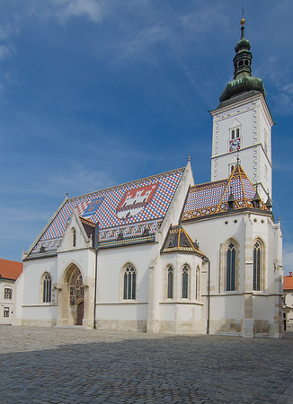 The 13th-century St Mark's Church in old Zagreb