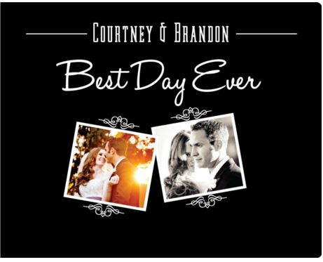 BEST DAY EVER Custom Album Design. You can customize the names & date.