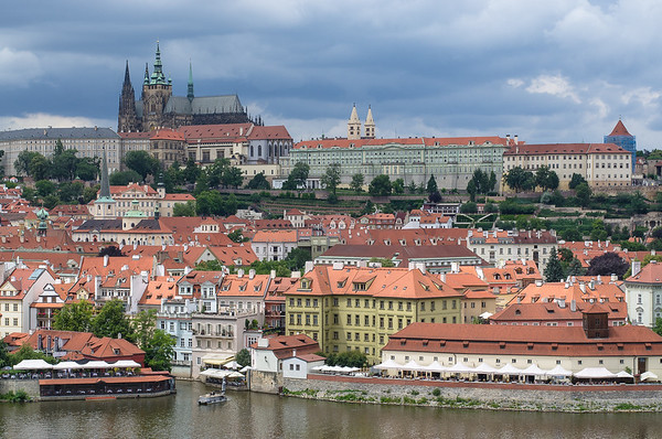 panoramic views of St. Vitus Cathedral and the Castle, Prague
