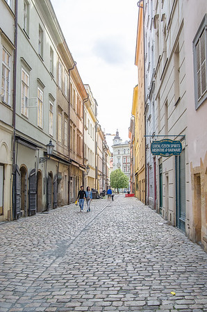 Strolling through the cobbled streets of Prague's old town