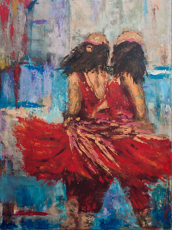 Twin Dancers 33x40 in