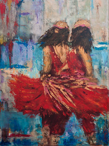 Twin Dancers 33x40 in