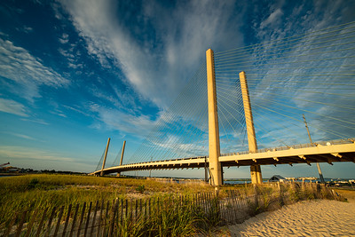 Indian River Inlet Bridge Dewey Beach Delaware Summer Seascape Shore Rehoboth Beach Bethany