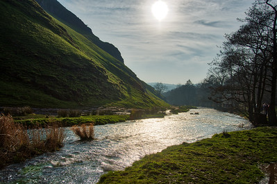 River Dove through Dovedale valley