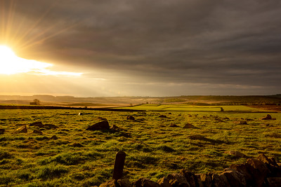 Golden morning at Baslow Edge, Derbyshire