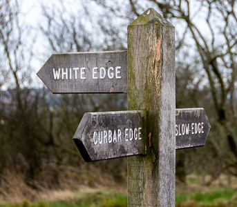 Sign to Curbar Edge
