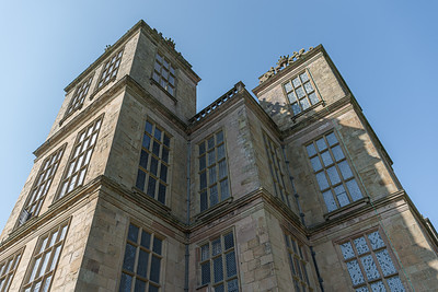 Hardwick Hall towering above