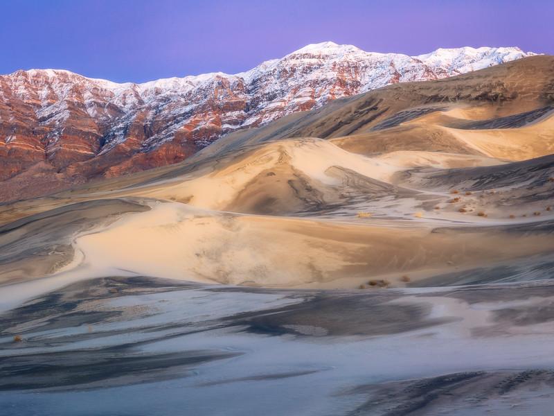 Winter Twilight Panorama, Eureka Valley Sand Dunes