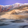 Winter Twilight Panorama, Eureka Valley Sand Dunes