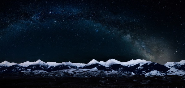 Beaverhead Mountains Milky Way Digital Art