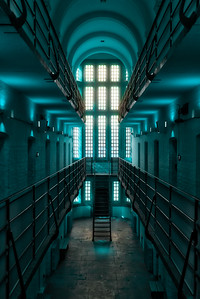 Lincoln Castle Prison In Blue