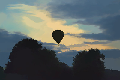Balloon at dusk