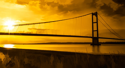Humber Bridge Golden Sky