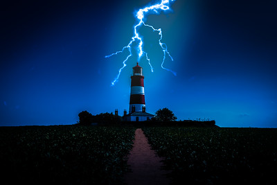 Happisburgh Lighthouse Lightning Strike