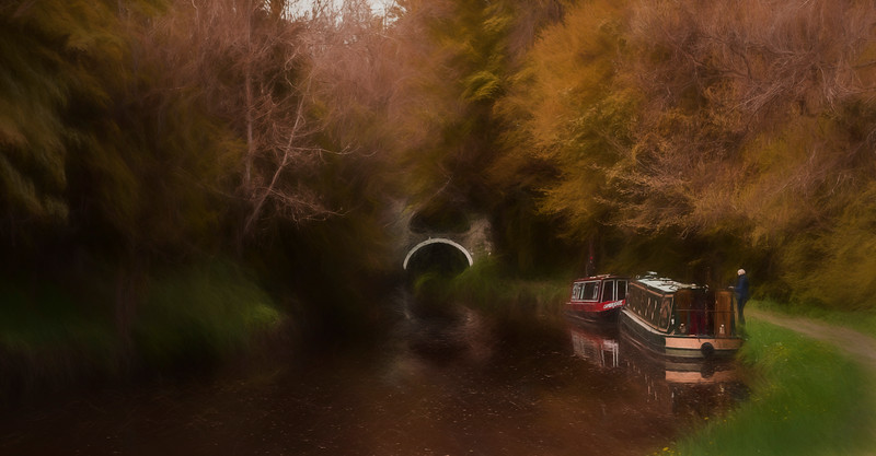 Leeds Liverpool Canal painting 1