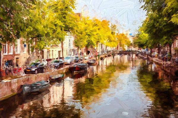 Amsterdam canal and bridge