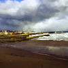 Lossiemouth storm painting