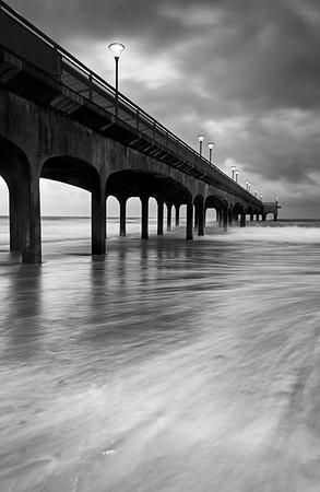 Stormy Boscombe Pier