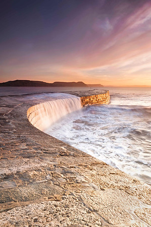 Cascades at Lyme Regis Cobb