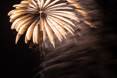 New Year's fireworks in Dubai.