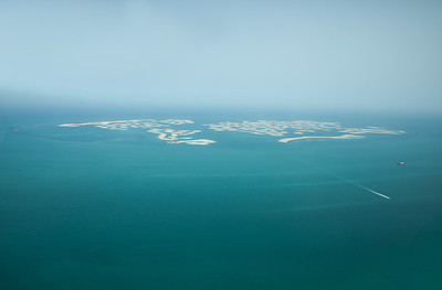 Dubai World Islands as viewed from a plane.