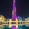 Colorful light show display in Dubai.
