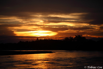 Sunset on the Juramento River, Argentina