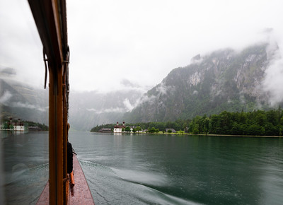 Foggy boat ride to St. Bartholomä | Königssee | Bavaria | Germany