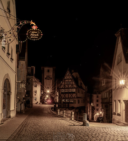 Rothenburg ob der Tauber bei Nacht | Germany | Europe