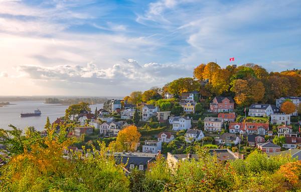 Herbstliche Stimmung in Hamburg an der Elbe