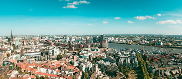 Panorama View Birds Eye | Hamburg | Germany | Europe