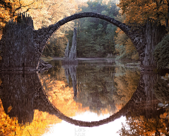Rakotzbridge | Reflection | Kromlau | Germany | Europe