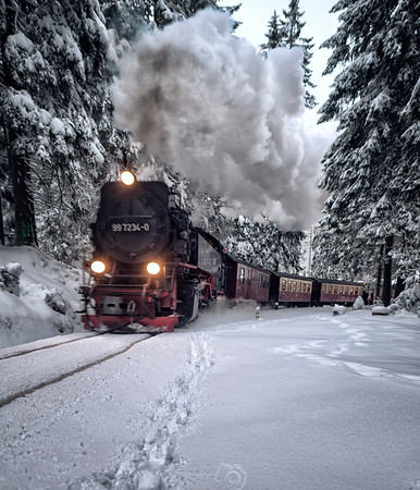 Brockenbahn |Ancient Steam Train | Harz | Germany | Europe