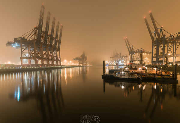 Night In The Port | Hamburg | Germany | Europe