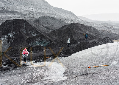 Black Lava Glacier   Iceland   Europe