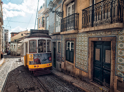 Ancient Tram | Lisbon | Portugal | Europe