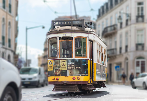 Ancient tram in Lisbon, Street photography Portugal | Europe