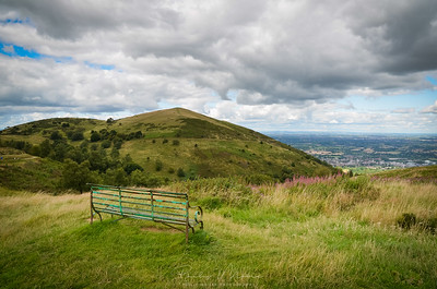 Empty Bench on the Malvern Hills