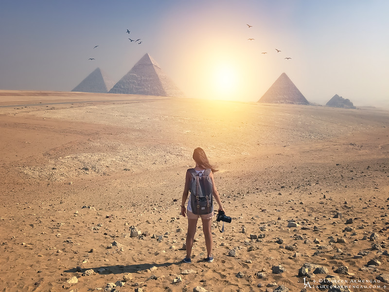 ΔΔΔ<br /> Dear Egypt,<br /> I have no words to express how I felt in your beautiful Sacred Land..<br /> <br /> From Louxor to Aswan, Abou Simbel to one of the 7 Wonders of the Word the great Pyramids of Giza, some words often come back in my language to describe you : a Land like no other, where the Mystery & Magic from the Ancient Egypt will Always remain..<br /> <br /> Majestic, Incredible prints of this old civilization that can be compared to no other..<br /> <br /> I was speechless for traveling into the past of this old civilization & blessed to have felt such a Strong Energy inside the Temples & Pyramids..<br /> <br /> Location : Giza | Egypt<br /> <br /> © 2018 Laureen Armengau