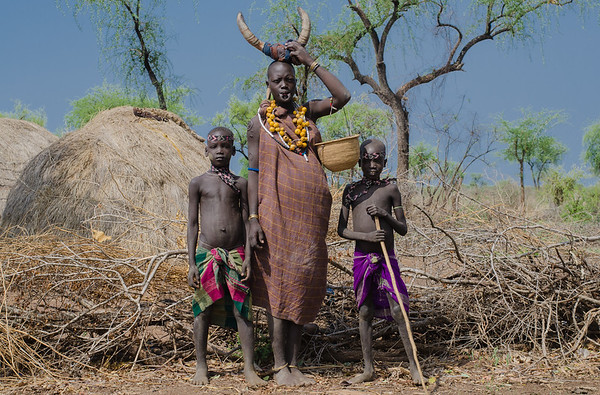 Mursi people at Omo National Park