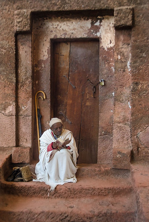 Monk in the churches of Lalibela