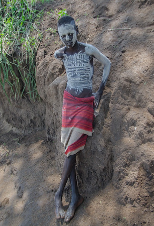 Mursi boy at Omo National Park
