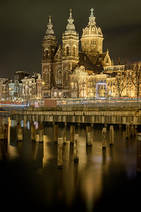 Netherlands, Amsterdam: The Basilica of Saint Nicholas in the Centre district of Amsterdam, across from Amsterdam's main railway station.