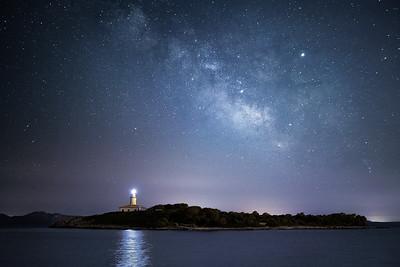 Mallorca, Islas Baleares, Spain: Far d'Alcanada lighthouse in Alcudia.
